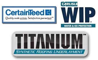 Certainteed, Titanium and Carlisle Manufacturer Logo